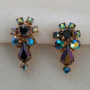 Vintage Keyes Brand Clip On Earrings